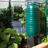 Water butts installed with rainwater collection by handyman